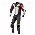 Alpinestars Atem V3 Leather Suit 1 Piece Black White Red Yellow